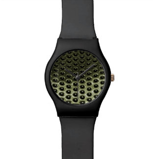 Green Anodized Metal Grill Watch