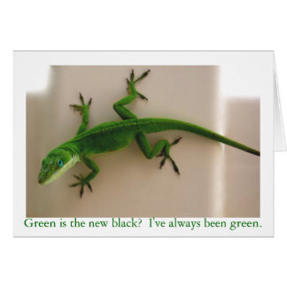 Green Anole Card