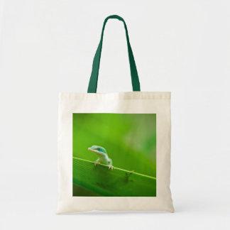 Green Anole Lizard Encounter Canvas Bag