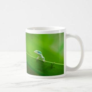 Green Anole Lizard Encounter Coffee Mug