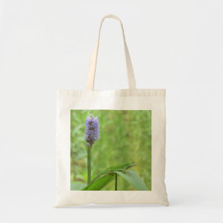 Green Anole Lizard with Pickeral Rush Tote Bag