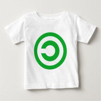 Green Anti-Copyright Copyleft Public Domain Symbol Baby T-Shirt