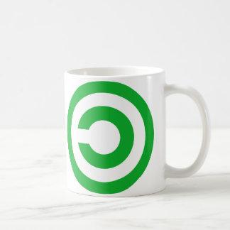 Green Anti-Copyright Copyleft Public Domain Symbol Coffee Mug