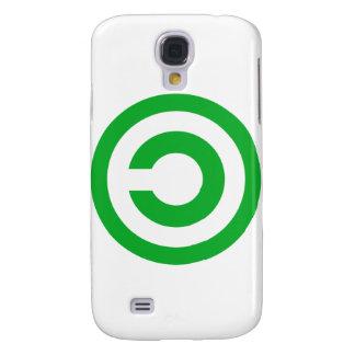 Green Anti-Copyright Copyleft Public Domain Symbol Galaxy S4 Case