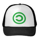 Green Anti-Copyright Copyleft Public Domain Symbol Trucker Hat