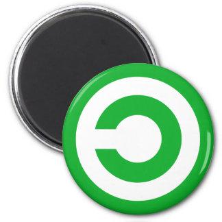 Green Anti-Copyright Copyleft Public Domain Symbol Magnet