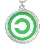 Green Anti-Copyright Copyleft Public Domain Symbol Pendants