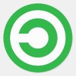 Green Anti-Copyright Copyleft Public Domain Symbol Classic Round Sticker