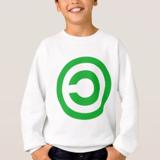 Green Anti-Copyright Copyleft Public Domain Symbol Sweatshirt