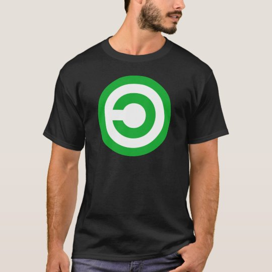 Green Anti-Copyright Copyleft Public Domain Symbol T-Shirt