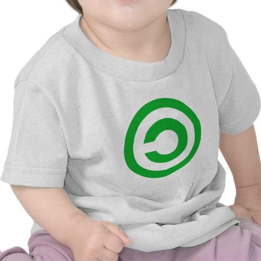 Green Anti-Copyright Copyleft Public Domain Symbol Tee Shirt