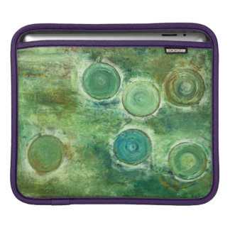 Green Antique Circles Sleeve For iPads