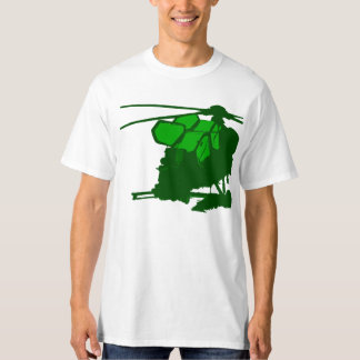 Green Apache Helicopter T-Shirt