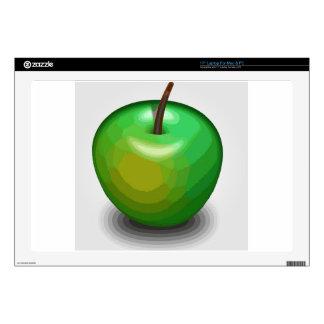 "Green apple 17"" laptop decal"