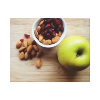 Green Apple, Almonds, Dried Cranberries Canvas Print
