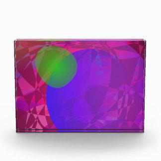 Green Apple and Dark Energy Acrylic Award