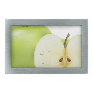 Green apple and half of apple belt buckle