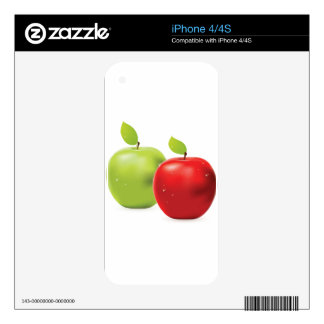 Green apple and red apple decals for the iPhone 4S