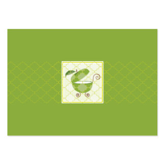 Green Apple Baby Carriage |  Information Card Large Business Cards (Pack Of 100)