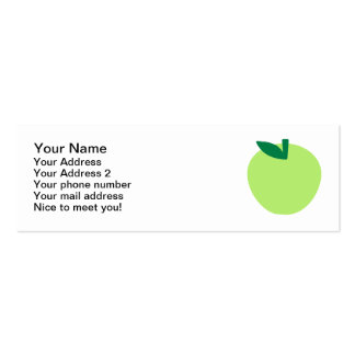 Green apple Double-Sided mini business cards (Pack of 20)