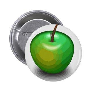 Green apple button