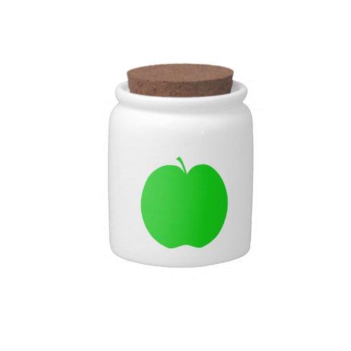 Green Apple. Candy Jar