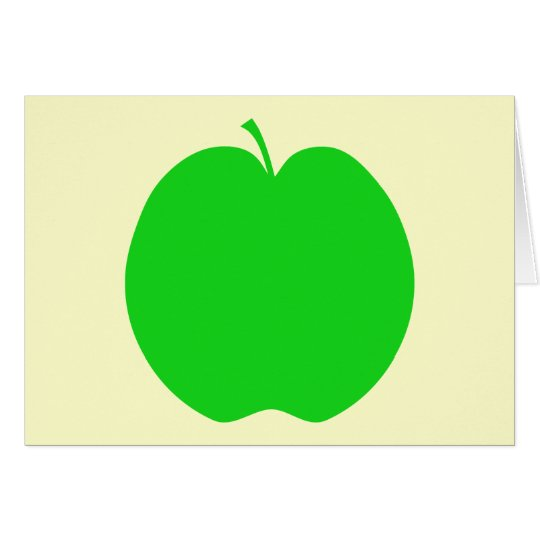 Green Apple. Card