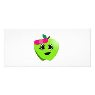 Green apple cartoon rack card design