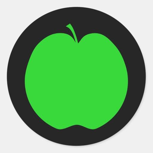 Green Apple. Classic Round Sticker