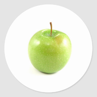 Green Apple Classic Round Sticker