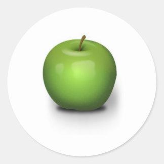 Green Apple Classic Round Sticker