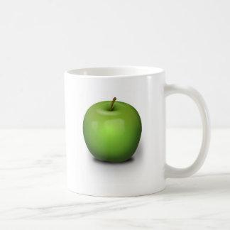 Green Apple Classic White Coffee Mug
