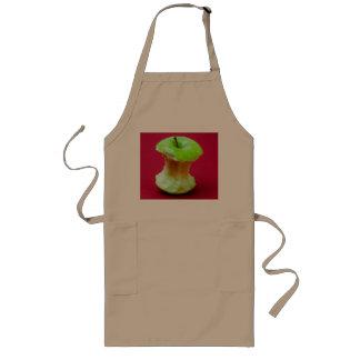 Green apple core long apron
