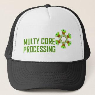 Green apple core motives trucker hat