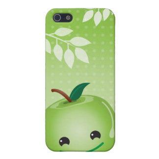 Green apple cute  iphone 4 cover