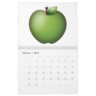 Green Apple - Emoji Calendar