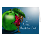 Green Apple Fairy Uzuri Birthday Card