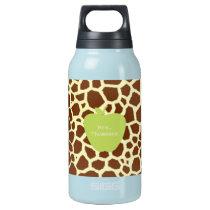 Green Apple Giraffe Teacher Insulated Water Bottle