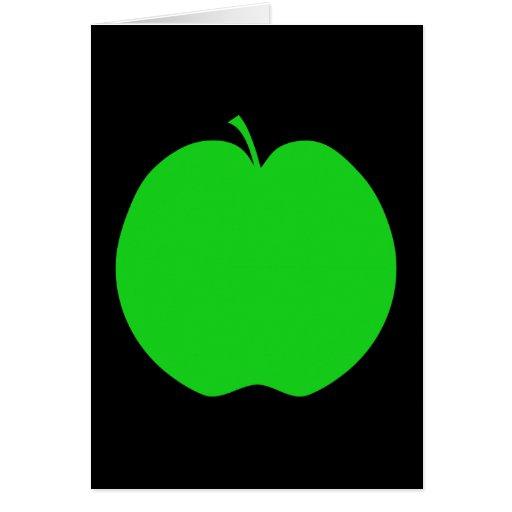 Green Apple. Greeting Card