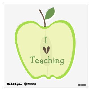 Green Apple Half I Love Teaching Wall Decal