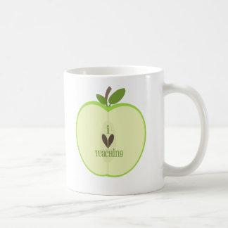 Green Apple Half Teacher Coffee Mug