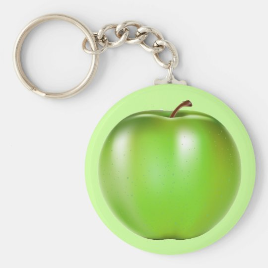 GREEN APPLE KEYCHAIN