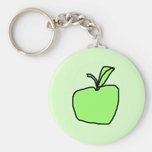 Green Apple. Keychains