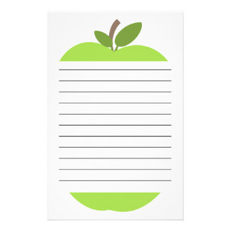 Green Apple Lined Stationery