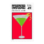 Green Apple Martini Postage Stamp