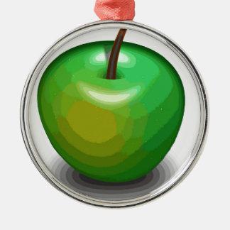 Green apple metal ornament
