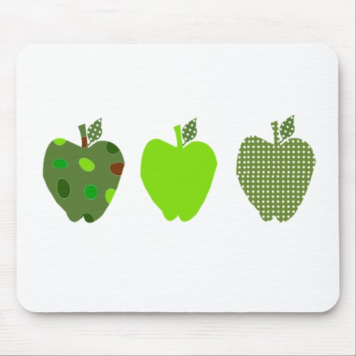 Green Apple Mouse Pads