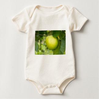 Green Apple on a Tree Branch Baby Bodysuit