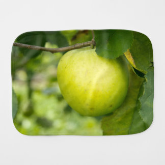 Green Apple on a Tree Branch Burp Cloths