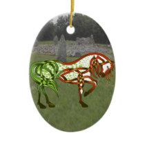 Green Apple-oosa Ceramic Ornament